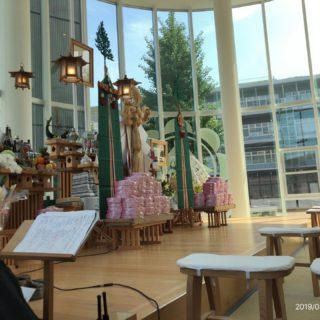 熊本教会夏期祈願祭 新会堂落成式 いよいよはじまります。